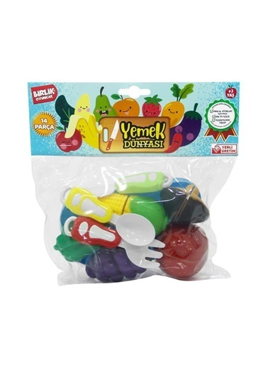 Birlik Oyuncak Birlik Oyuncak 007Pvc2B Kesilebilen Meyve Sebze Seti 14 Parça Renkli